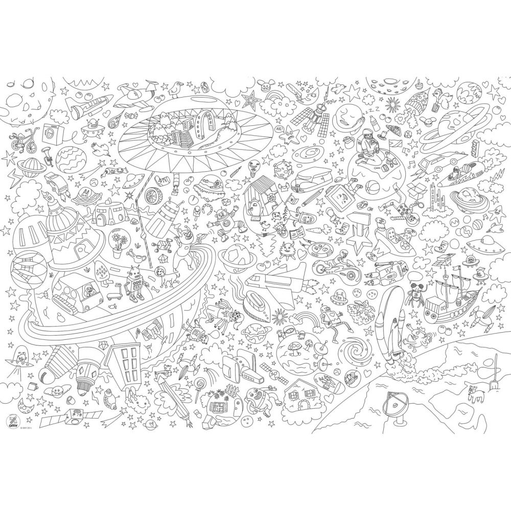 Giant Coloring Poster - Cosmos | Flat
