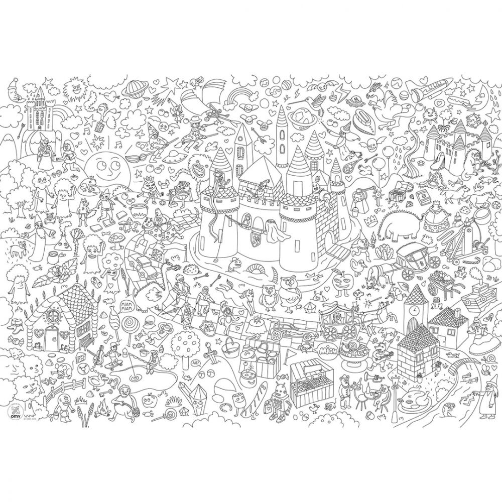 Giant Coloring Poster - Magic | Flat