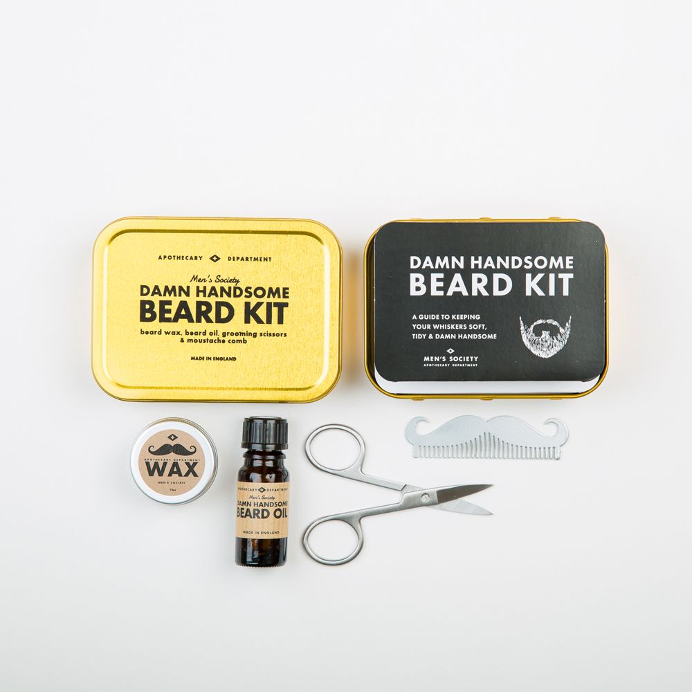 beard grooming kit flat. Black Bedroom Furniture Sets. Home Design Ideas